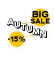 autumn sale discount of 15 percent bright vector image
