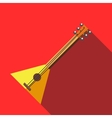 Balalaika icon in flat style vector image vector image