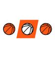 basketball logo icon streetball vector image vector image