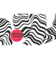 black and white striped pattern fluid geometric vector image