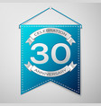 blue pennant with inscription thirty years vector image vector image