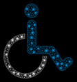 bright mesh 2d disabled person with flash spots vector image vector image