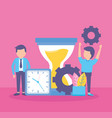 business people clock vector image vector image