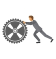businessman with gear icon vector image vector image
