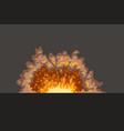 cartoon explosion on dark surface vector image vector image