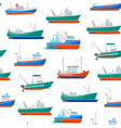 cartoon fishing boats seamless pattern background vector image vector image
