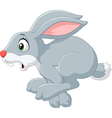 Cartoon panic bunny running isolated vector image vector image