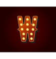 Casino or Broadway Signs style light bulb Alphabet vector image vector image