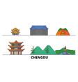 china chengdu flat landmarks vector image vector image