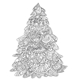 Christmas tree coloring vector image