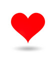 classic valentine heart with shadow vector image
