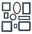 classical black picture frames vector image vector image