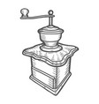 coffee mill hand drawn sketch style vector image vector image