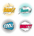 comic book sound effect set speech bubbles in pop vector image