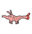 comic cartoon shrimp vector image