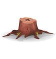 comic tree stump vector image vector image