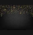 confetti and ribbons on dark transparent vector image vector image