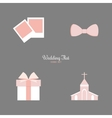 Cute Wedding Objects vector image