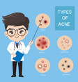 doctors recommend typ acne vector image vector image