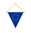 european union triangle flag hanging vector image vector image