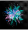 explosion of white powder vector image vector image