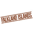 falkland islands brown square stamp vector image vector image