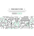 From Farm to Fork - line design website banner vector image vector image