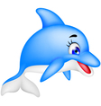 Funny dolphin cartoon vector image