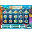 Game template with underwater background vector image vector image