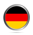 German flag button vector image vector image