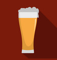 glass of beverage icon flat style vector image vector image