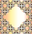 golden background with geometric designs and preci vector image vector image
