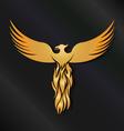 Golden Phoenix Bird vector image