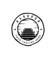 harbor logo design emblem vector image
