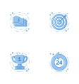 icons with cash aim or targe goal 24 7 coin vector image