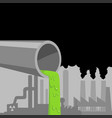 industrial waste pipe vector image