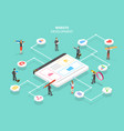 isometric flat concept web services vector image vector image