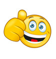laughing smiley with a thumbs up sign vector image vector image