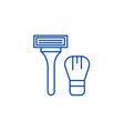 lazor machine for shaving line icon concept lazor vector image vector image