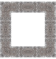 leopard decorative frame vector image vector image