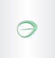 letter g green leaf stylized logotype