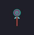 lollipop computer symbol vector image