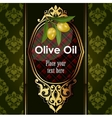 luxury golden decorative design with olive vector image vector image