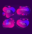 modern abstractframe banner color abstract liquid vector image vector image