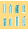 Modern building icon set vector image vector image