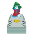 Money and Santa Claus vector image vector image