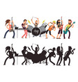 music performance with young musicians rock vector image vector image