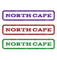 north cape watermark stamp vector image vector image
