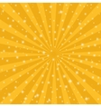 Orange sun vintage background Rays star burst vector image vector image