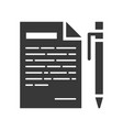 pen and paper with list message icon vector image